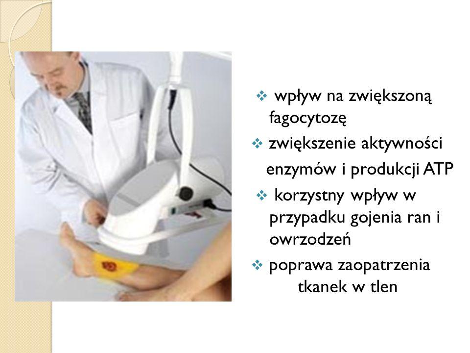 wpływ na zwiększoną fagocytozę