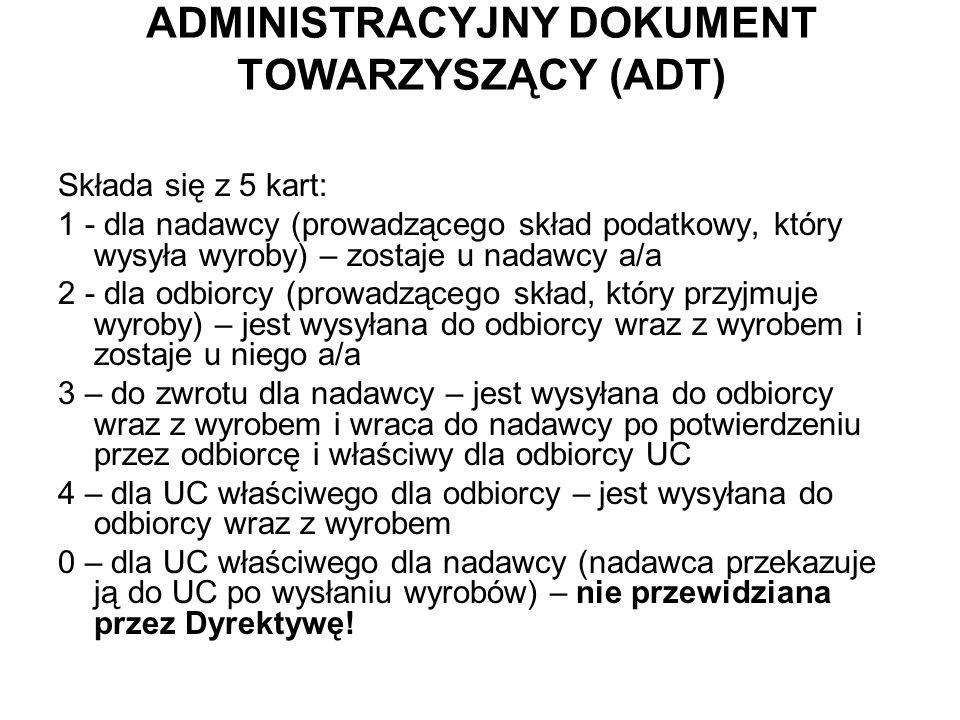 ADMINISTRACYJNY DOKUMENT TOWARZYSZĄCY (ADT)