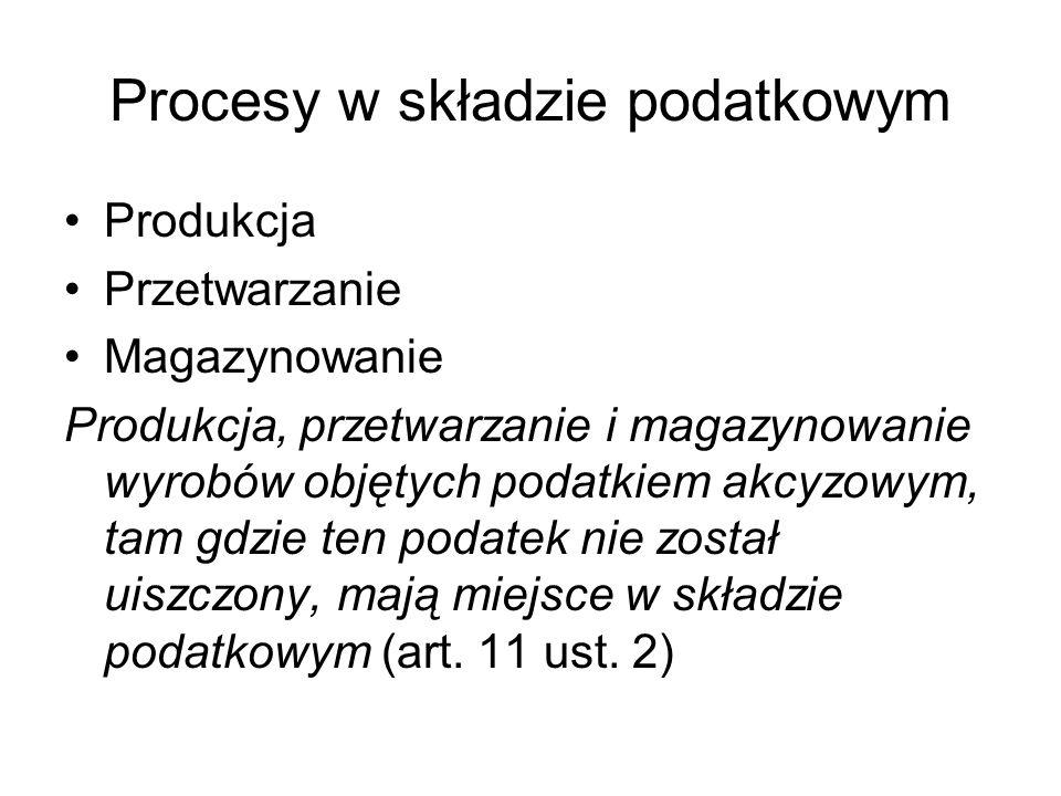Procesy w składzie podatkowym