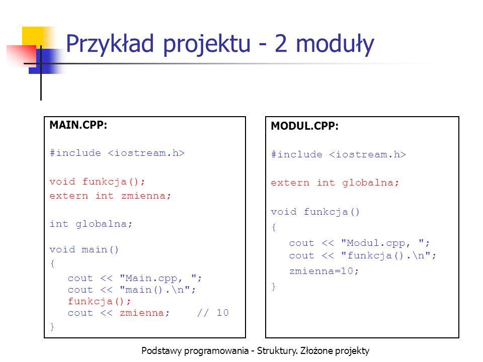 Przykład projektu - 2 moduły