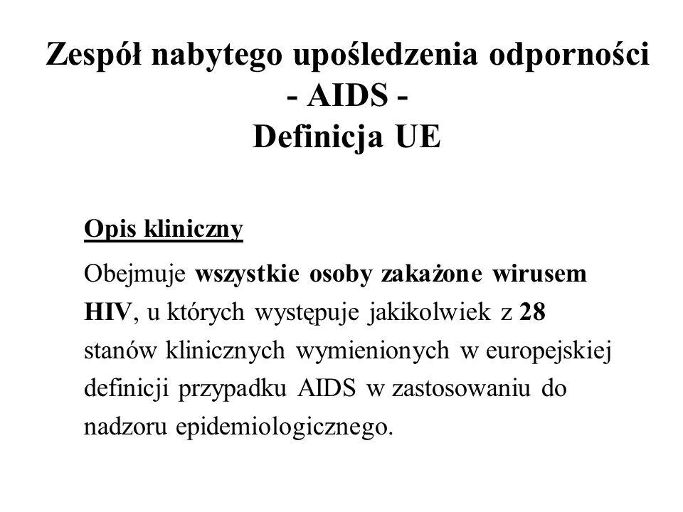 Zespół nabytego upośledzenia odporności - AIDS - Definicja UE