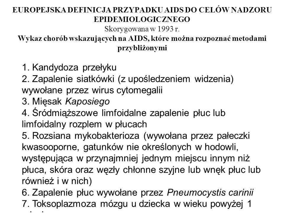 6. Zapalenie płuc wywołane przez Pneumocystis carinii