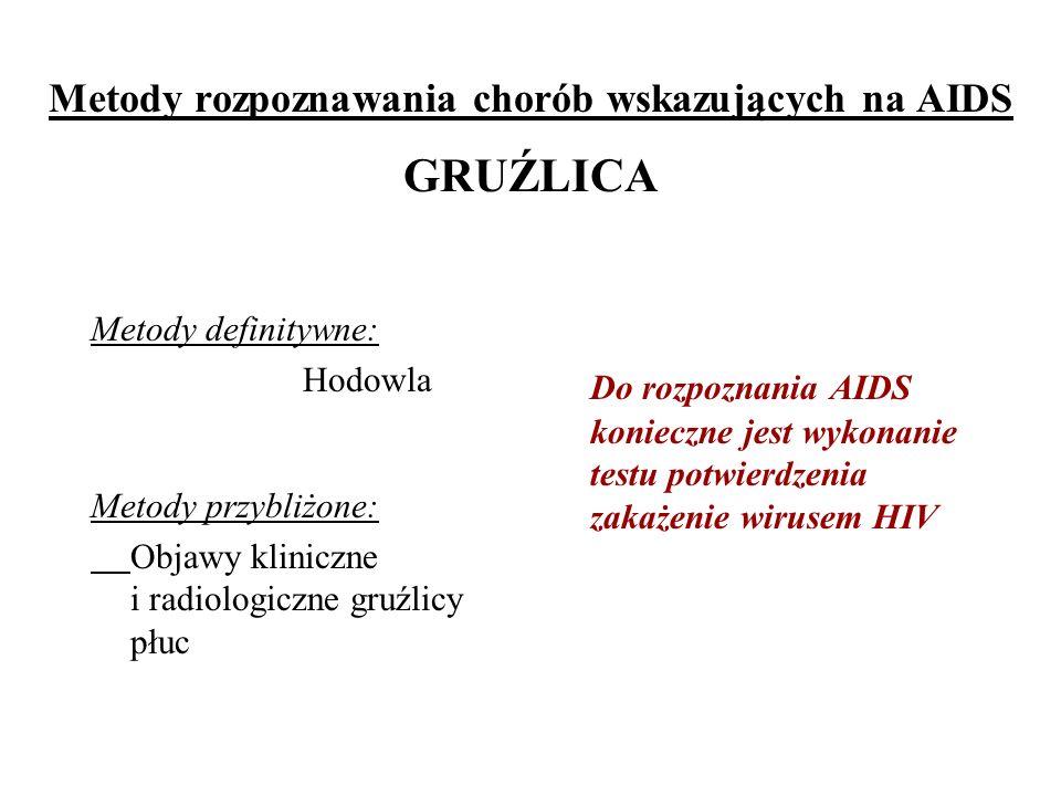 Metody rozpoznawania chorób wskazujących na AIDS GRUŹLICA