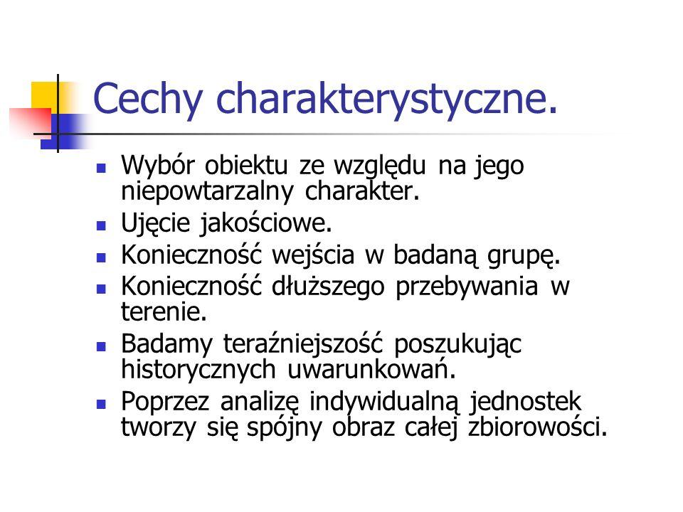 Cechy charakterystyczne.