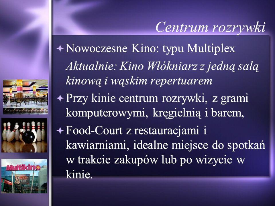 Centrum rozrywki Nowoczesne Kino: typu Multiplex