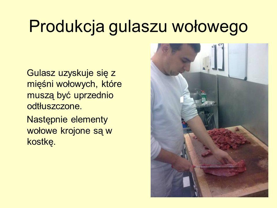 Produkcja gulaszu wołowego