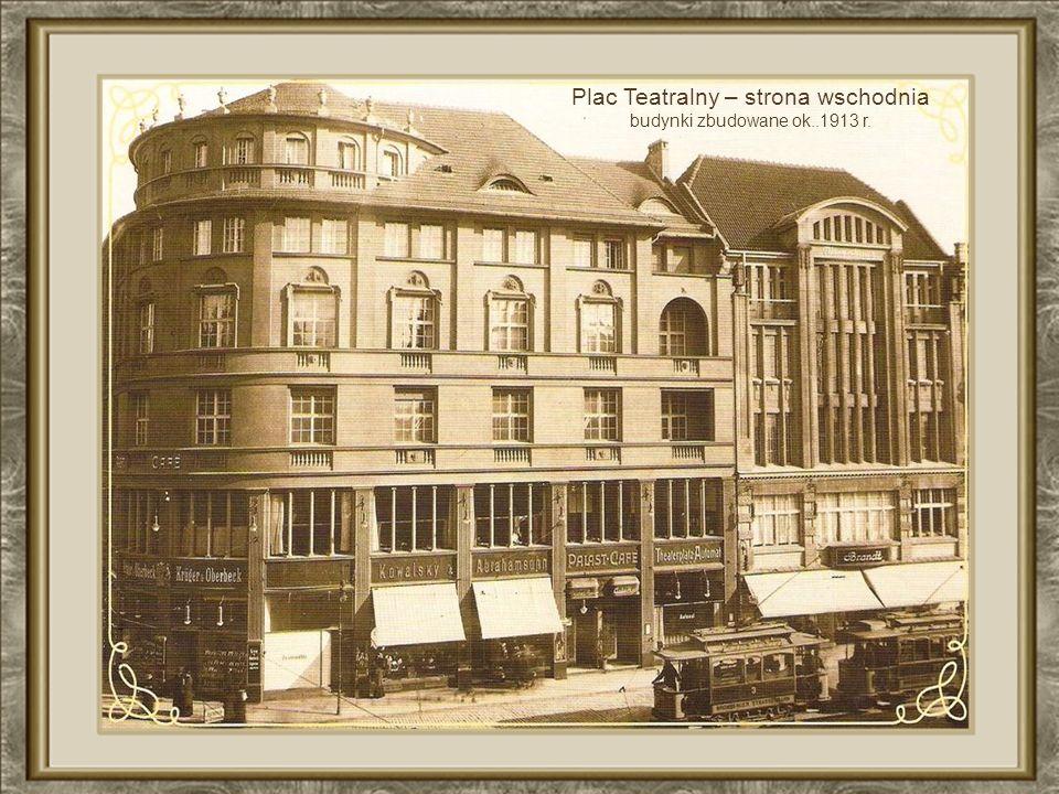 Plac Teatralny – strona wschodnia