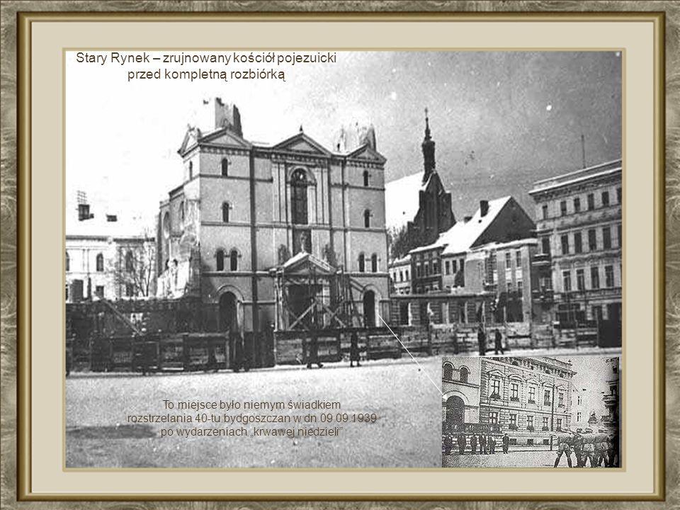 Stary Rynek – zrujnowany kościół pojezuicki przed kompletną rozbiórką