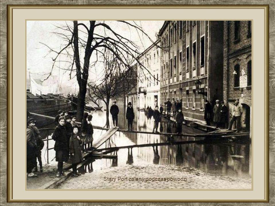 Stary Port zalany podczas powodzi