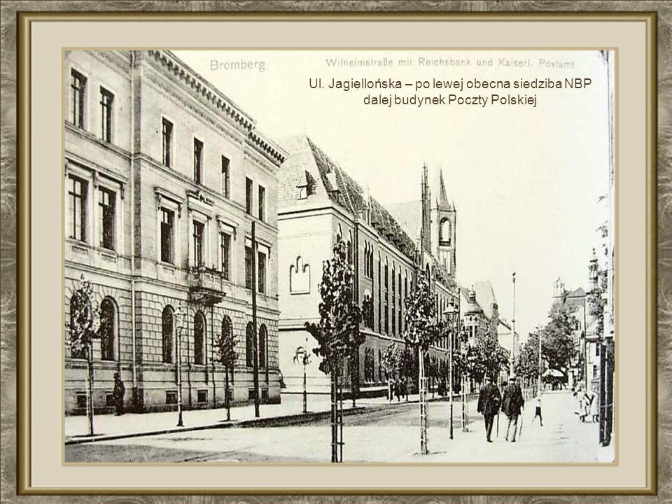 Ul. Jagiellońska – po lewej obecna siedziba NBP