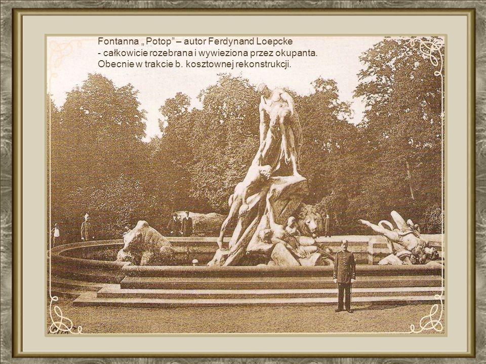 "Fontanna "" Potop – autor Ferdynand Loepcke"