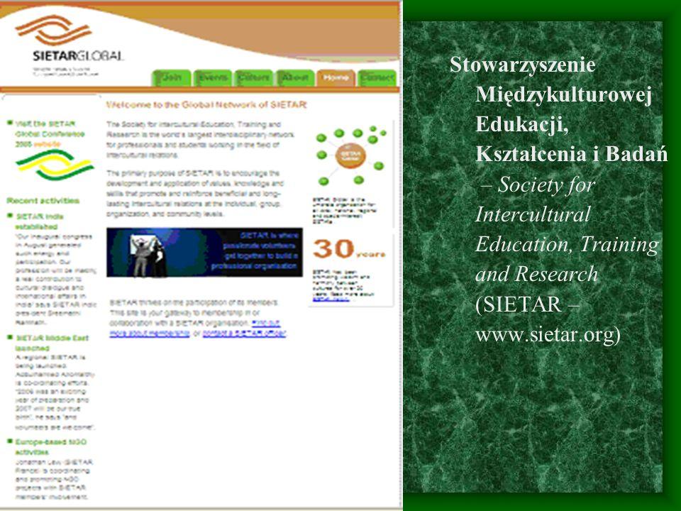 Stowarzyszenie Międzykulturowej Edukacji, Kształcenia i Badań – Society for Intercultural Education, Training and Research (SIETAR – www.sietar.org)