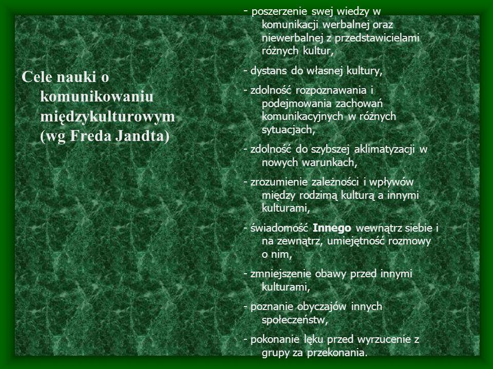 Cele nauki o komunikowaniu międzykulturowym (wg Freda Jandta)