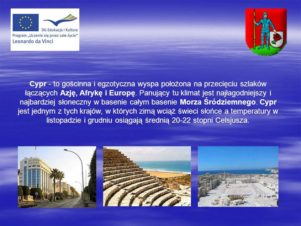 Cypr - to gościnna i egzotyczna wyspa położona na przecięciu szlaków łączących Azję, Afrykę i Europę.