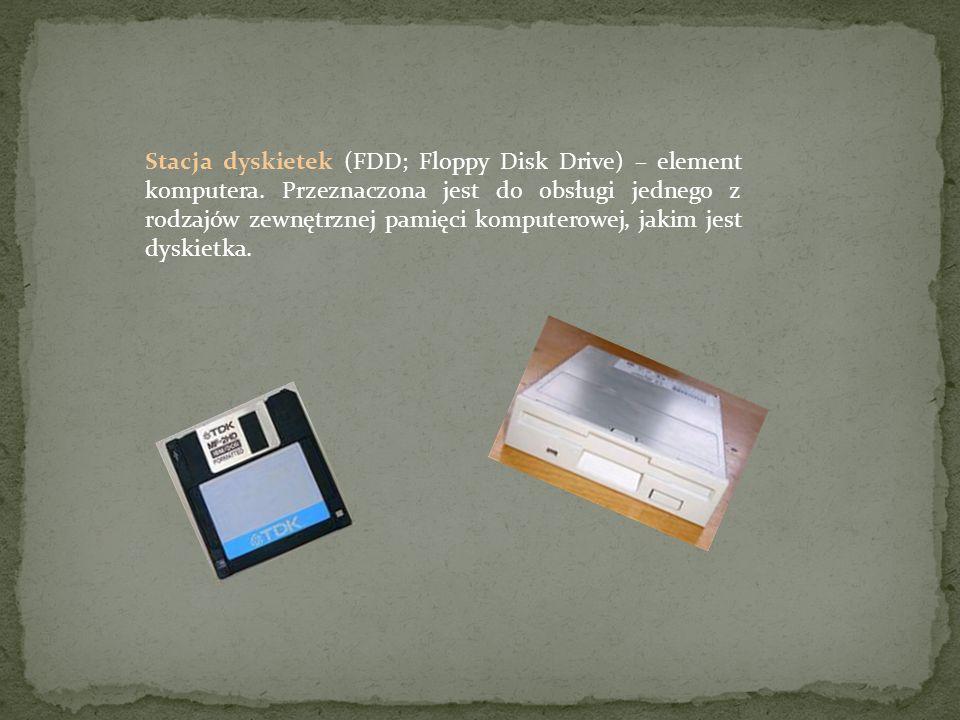 Stacja dyskietek (FDD; Floppy Disk Drive) – element komputera