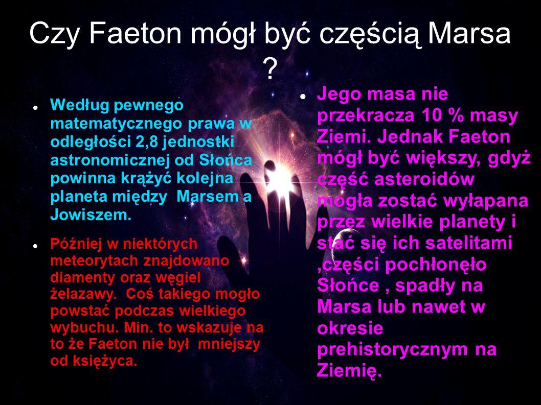 Czy Faeton mógł być częścią Marsa