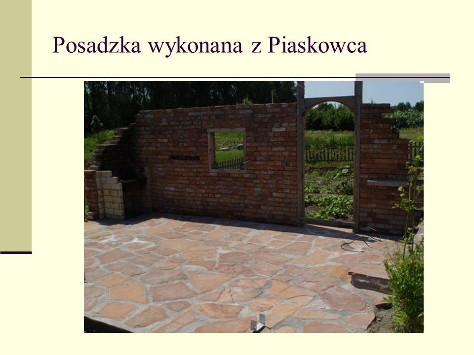 Posadzka wykonana z Piaskowca