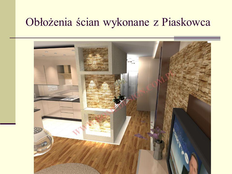 Obłożenia ścian wykonane z Piaskowca