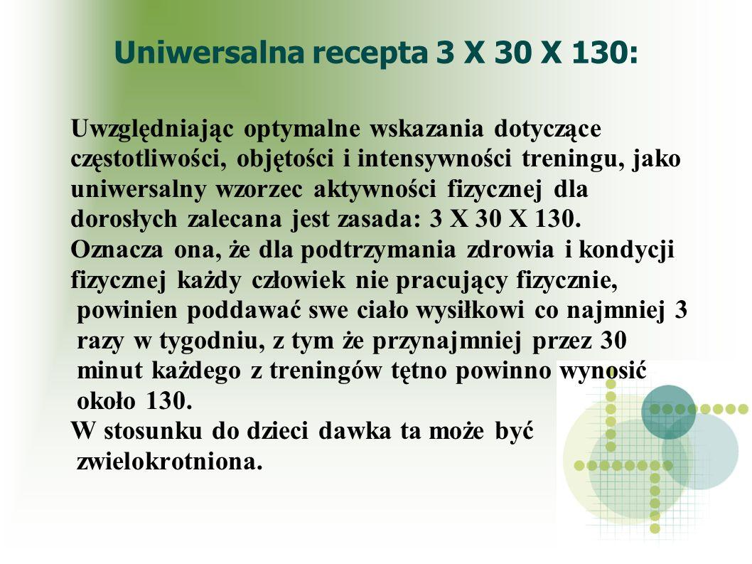 Uniwersalna recepta 3 X 30 X 130:
