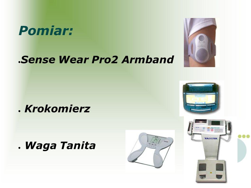 Sense Wear Pro2 Armband Krokomierz Waga Tanita