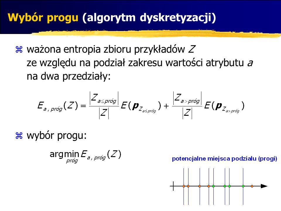 Wybór progu (algorytm dyskretyzacji)