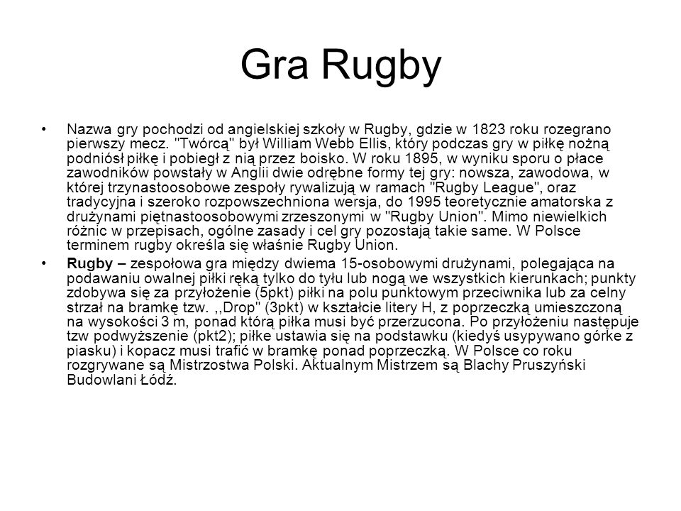 Gra Rugby