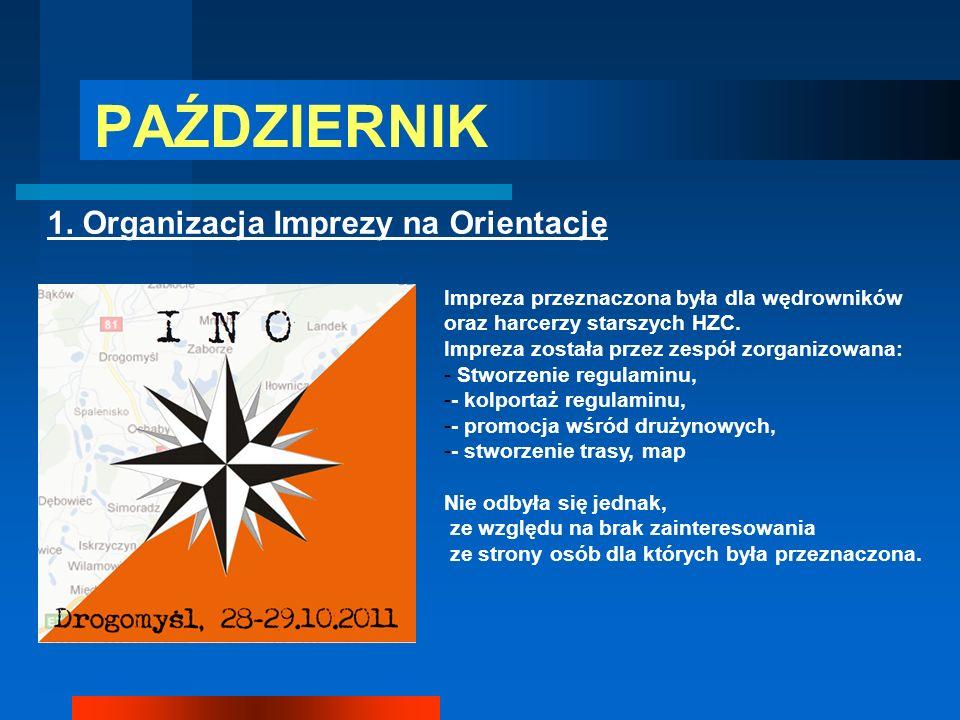 PAŹDZIERNIK 1. Organizacja Imprezy na Orientację