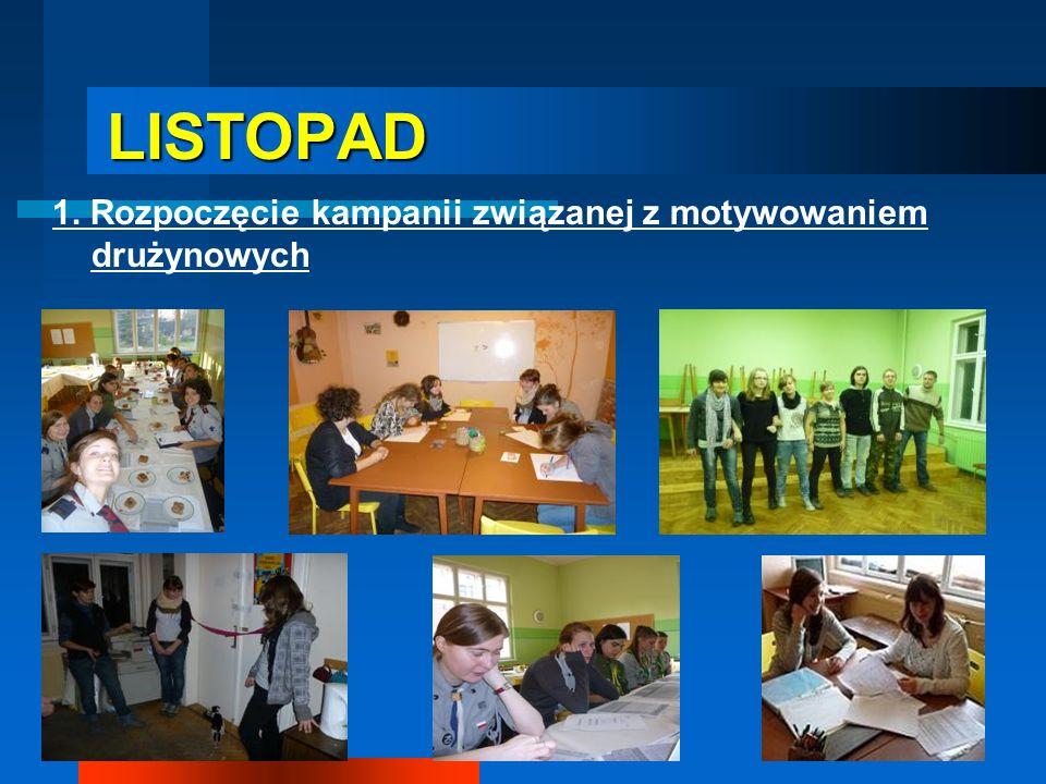 LISTOPAD 1. Rozpoczęcie kampanii związanej z motywowaniem drużynowych