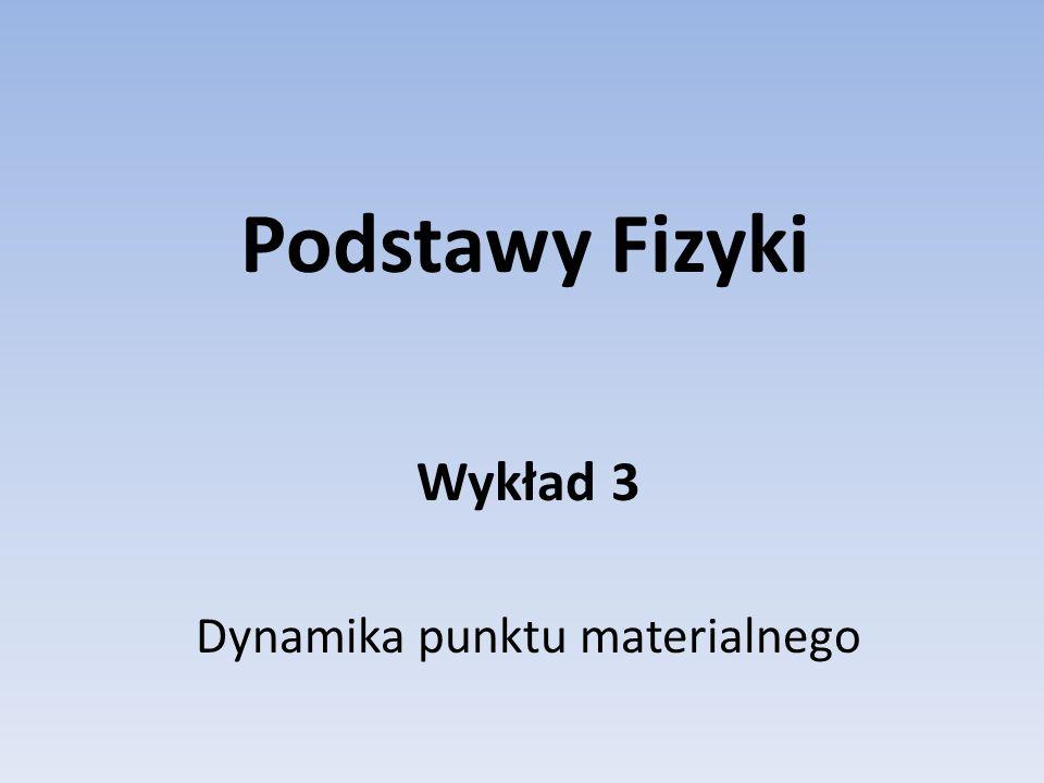 Wykład 3 Dynamika punktu materialnego