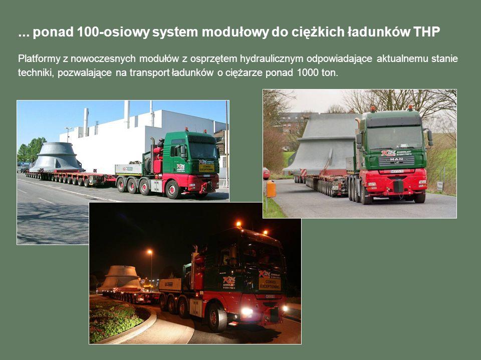 ... ponad 100-osiowy system modułowy do ciężkich ładunków THP