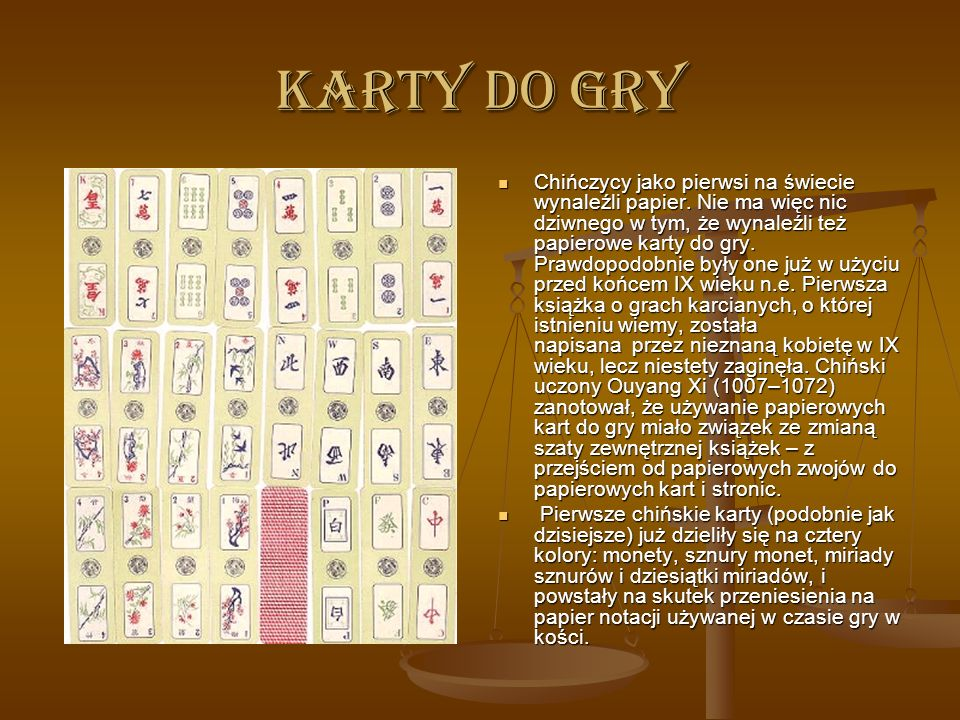 KARTY DO GRY