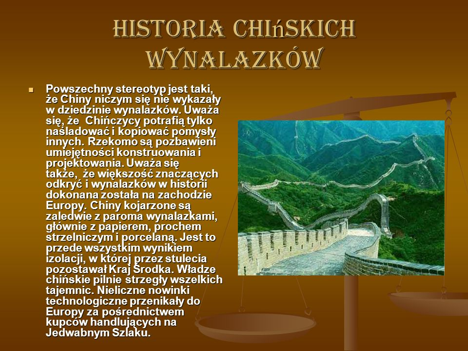 Historia chińskich wynalazków