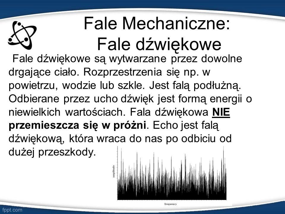 Fale Mechaniczne: Fale dźwiękowe