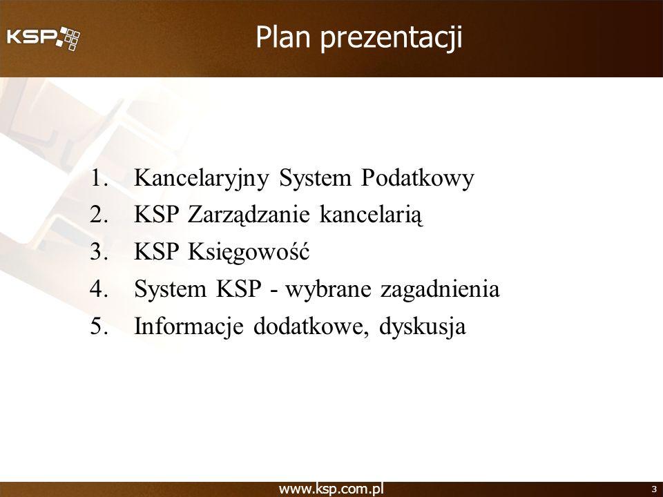 Plan prezentacji Kancelaryjny System Podatkowy