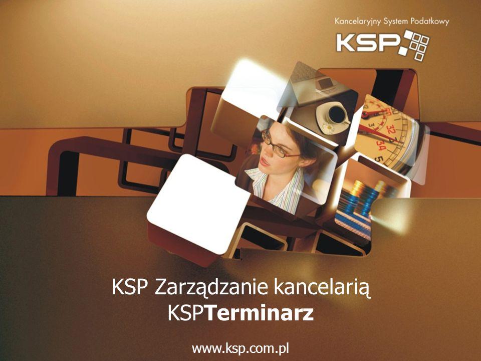 KSP Zarządzanie kancelarią KSPTerminarz