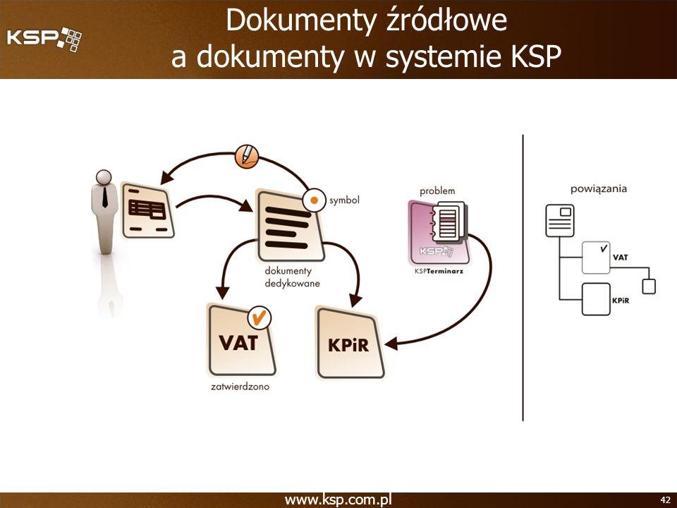Dokumenty źródłowe a dokumenty w systemie KSP