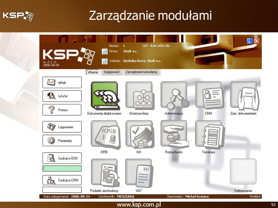 Zarządzanie modułami www.ksp.com.pl