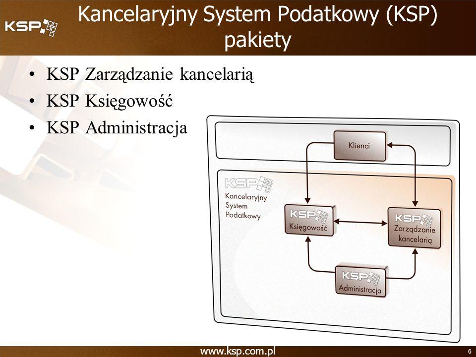 Kancelaryjny System Podatkowy (KSP) pakiety