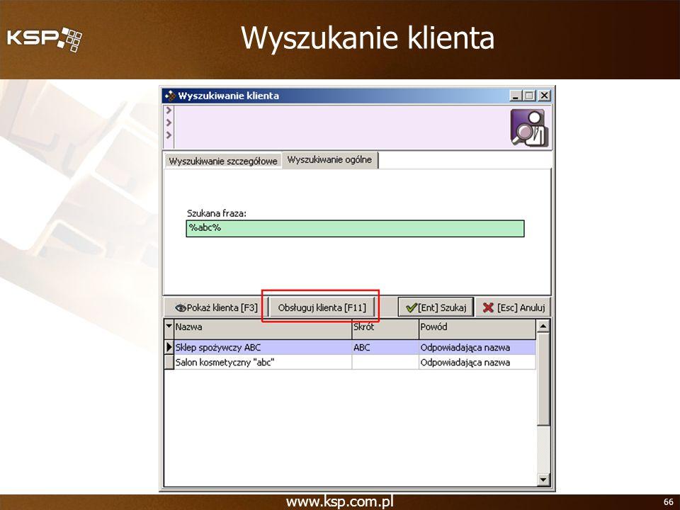 Wyszukanie klienta www.ksp.com.pl