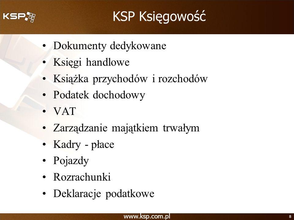 KSP Księgowość Dokumenty dedykowane Księgi handlowe