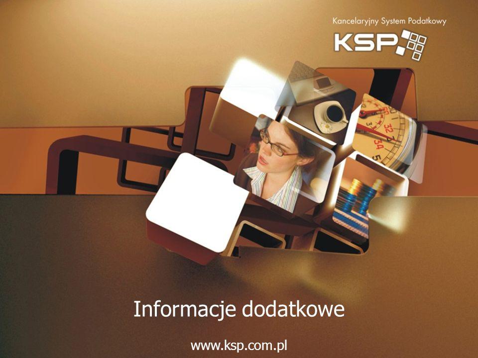 Informacje dodatkowe www.ksp.com.pl
