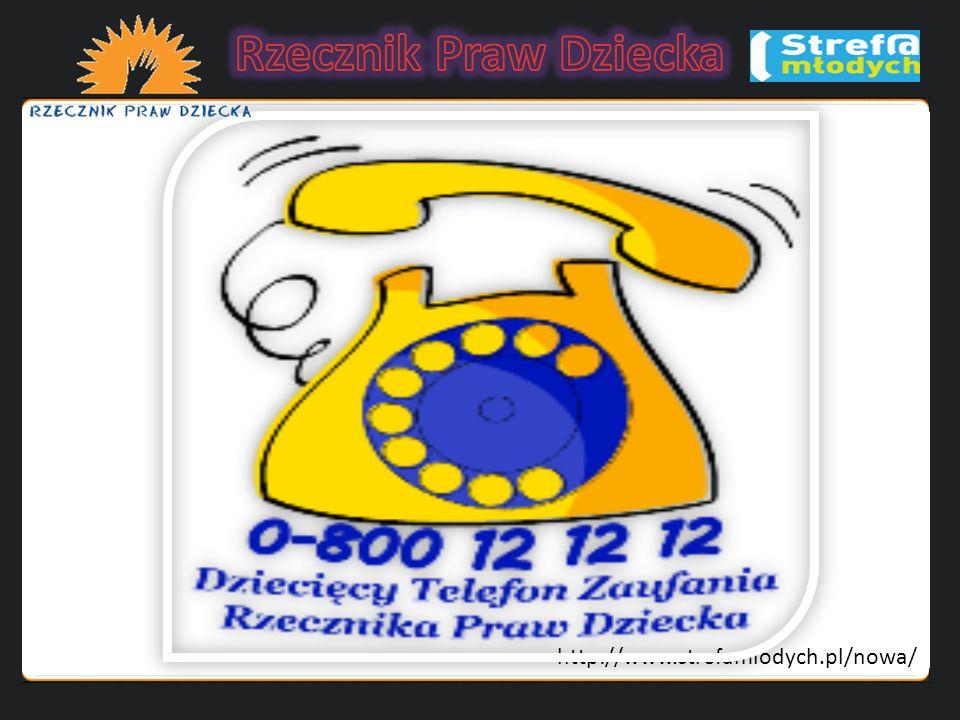 Rzecznik Praw Dziecka http://www.strefamlodych.pl/nowa/