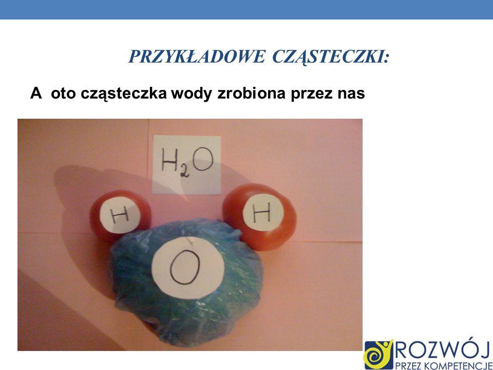 Przykładowe cząsteczki: