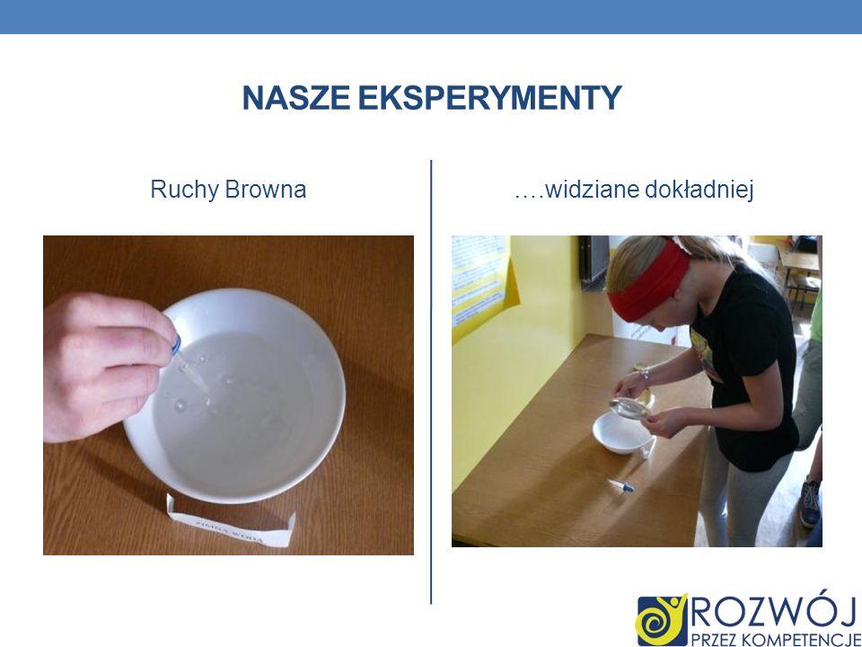 Nasze eksperymenty Ruchy Browna ….widziane dokładniej