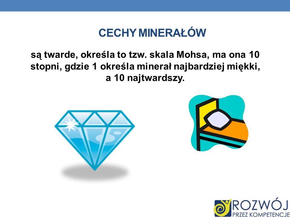 Cechy minerałów są twarde, określa to tzw.