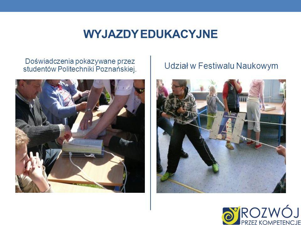 Wyjazdy edukacyjne Udział w Festiwalu Naukowym