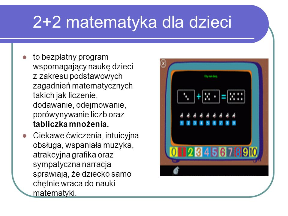 2+2 matematyka dla dzieci