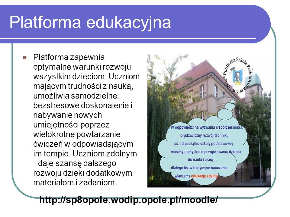 Platforma edukacyjna http://sp8opole.wodip.opole.pl/moodle/