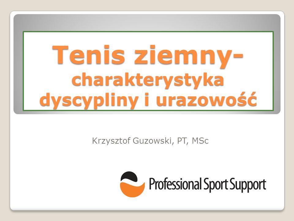 Tenis ziemny- charakterystyka dyscypliny i urazowość