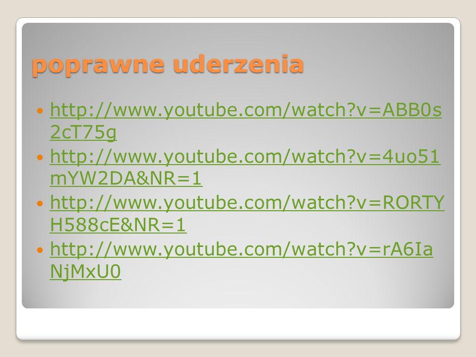 poprawne uderzenia http://www.youtube.com/watch v=ABB0s 2cT75g